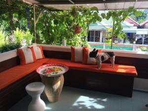 Guest room porch