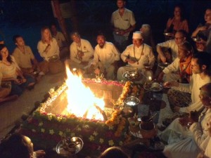 Fire Ceremony at The Five Elements Spa